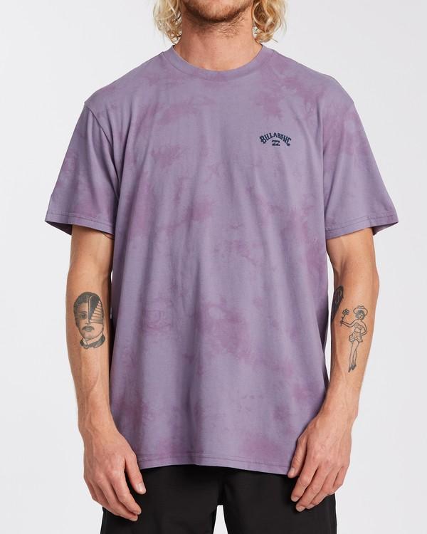 0 Arch Wave Tie Dye - Maglietta da Uomo Purple U1SS90BIF0 Billabong