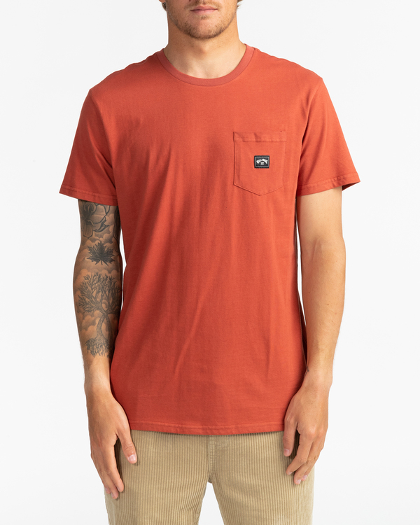 0 Stacked - T-Shirt for Men Red U1SS98BIF0 Billabong