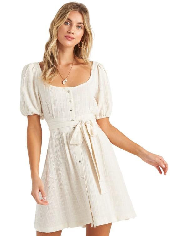 0 Sundown - Short Sleeve Mini Dress for Women White U3DR01BIMU Billabong