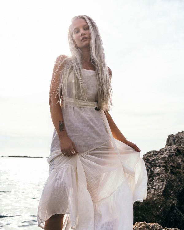 0 Crystal Tides Island Spirit - Vestido para Mujer Blanco U3DR41BIMU Billabong