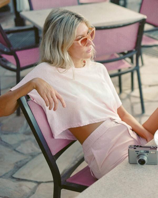 0 Salty Blonde Just Beachin - High Neck Top for Women Pink U3KT30BIF0 Billabong
