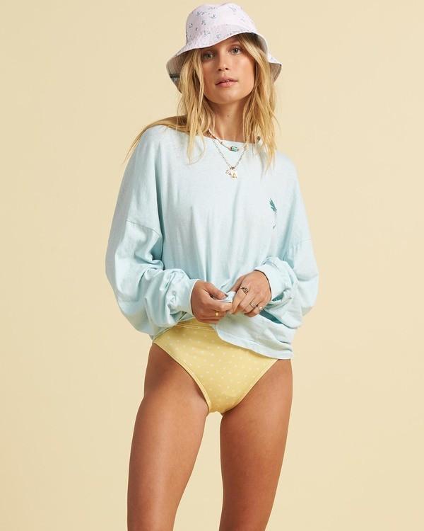 0 Salty Blonde Beach Boyfriend - High Neck Top for Women Blue U3KT32BIF0 Billabong
