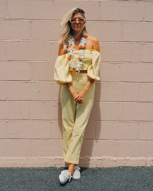 0 Salty Blonde Moonlight - Trousers for Women Yellow U3PT31BIF0 Billabong