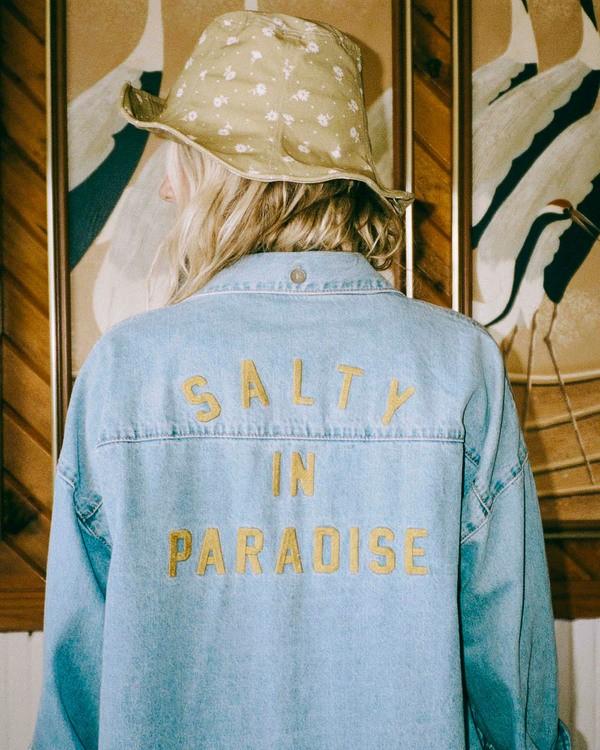 0 Salty Blonde Feeling Salty - Veste en jean pour Femme Bleu U3TP30BIF0 Billabong