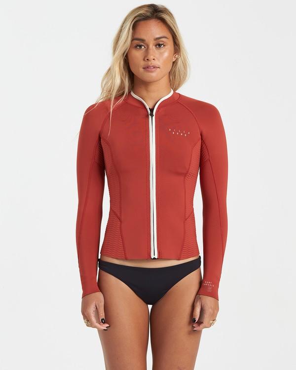 0 Surf Capsule Peeky - Wetsuit Jacket for Women Brown U42G35BIF0 Billabong