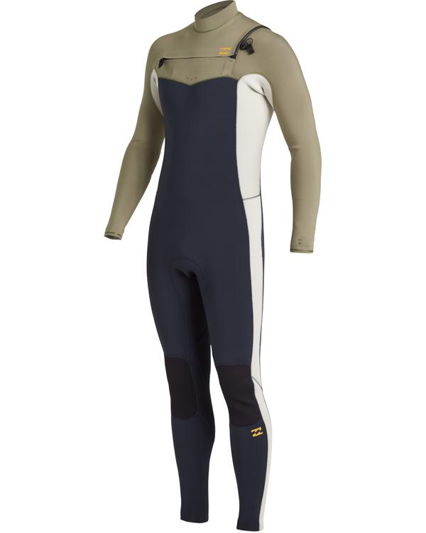 0 Revolution 3/2mm GBS - Chest Zip Wetsuit for Men Blue U43M55BIF0 Billabong
