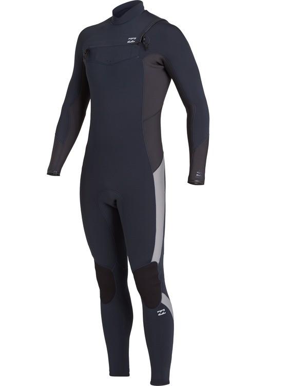 0 Absolute 4/3mm GBS - Chest-Zip Neoprenanzug für Männer Blau U44M60BIF0 Billabong