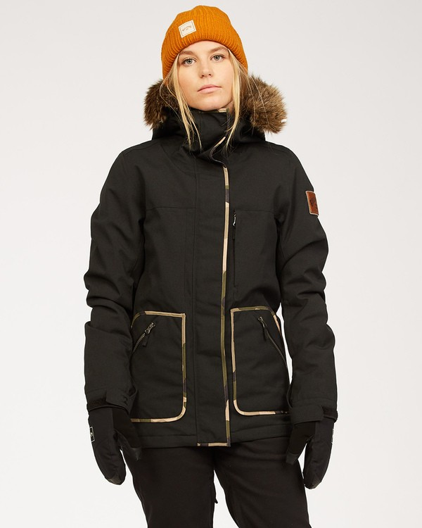 0 Into The Forest - Chaqueta para Mujer Negro U6JF25BIF0 Billabong
