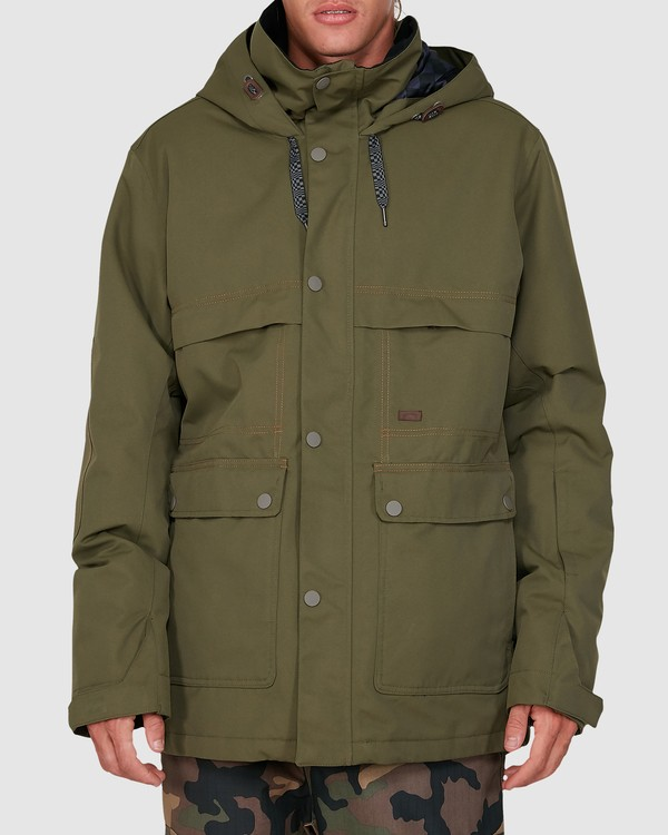 0 Shadow Jacket Green U6JM26S Billabong