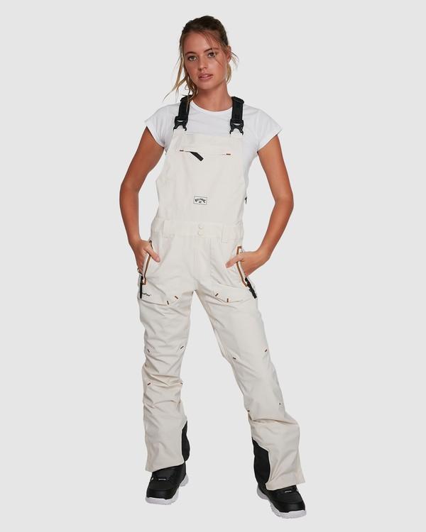 0 A/DIV Women's Drifter STX Snow Bib White U6PF20S Billabong
