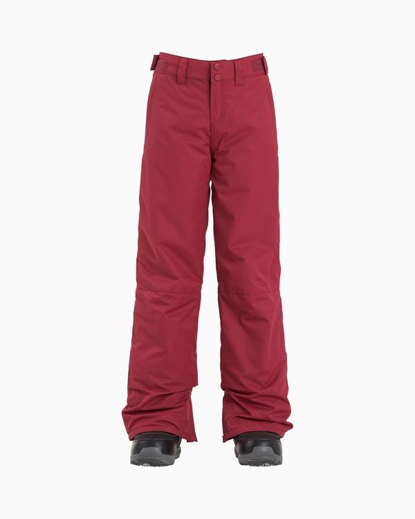 0 Alue - Snow Pants for Girls Red U6PG20BIF0 Billabong