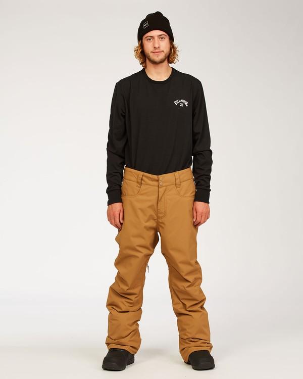 0 Outsider - Pantalones para nieve para Hombre Marron U6PM25BIF0 Billabong