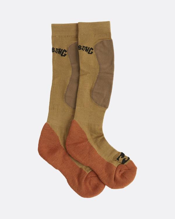 0 Compass Merino Socks Brown U6SO02S Billabong