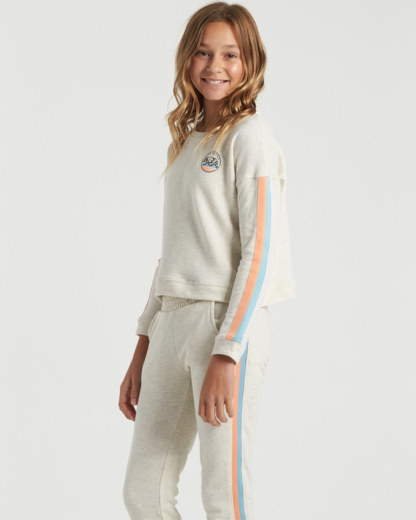 0 Cali Bear - Sweatshirt for Girls Gris U8CR02BIF0 Billabong