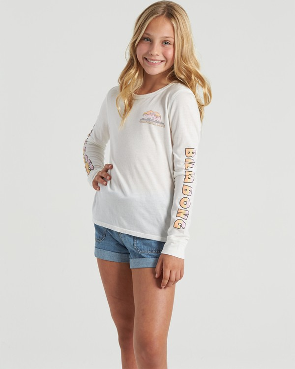 0 Happy Trails - Long Sleeve Shirt for Girls Beige U8LS04BIF0 Billabong