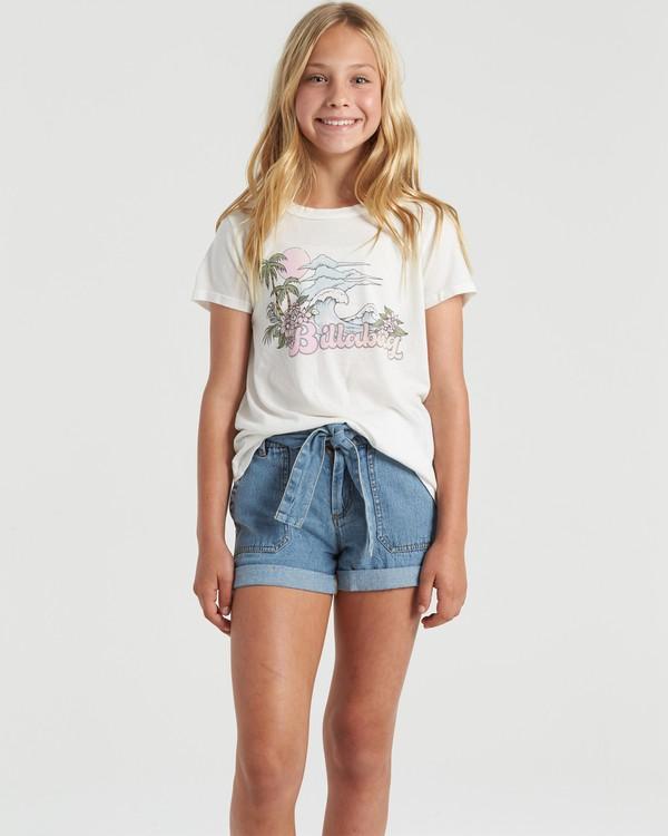 0 Vintage Postcard - T-shirt voor Meisjes Beige U8SS05BIF0 Billabong