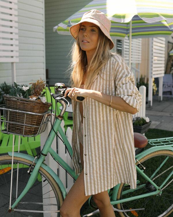 0 Sunset Stripe Shirt Green UBJWT00129 Billabong