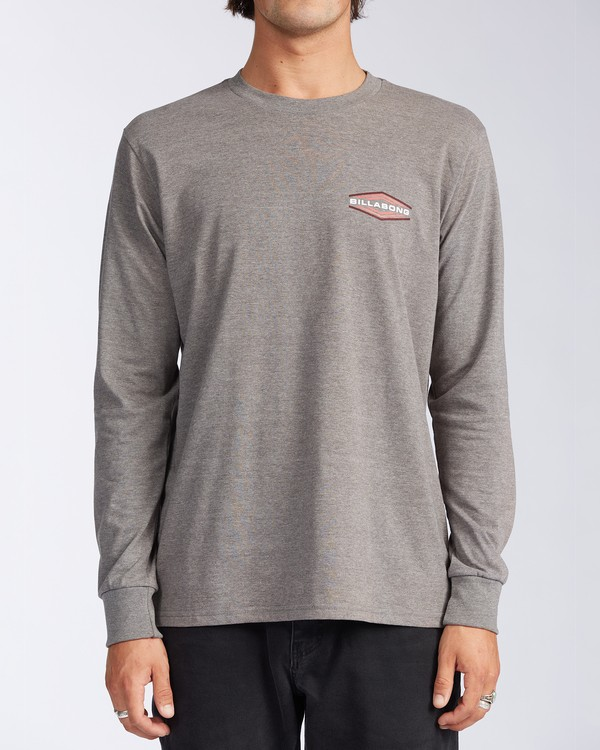 0 Walled - T-shirt manches longues pour Homme Gris V1LS02BIW0 Billabong