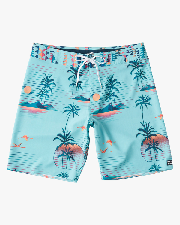 """0 Sundays Airlite 19"""" - Recycled Board Shorts for Men Green W1BS16BIP1 Billabong"""