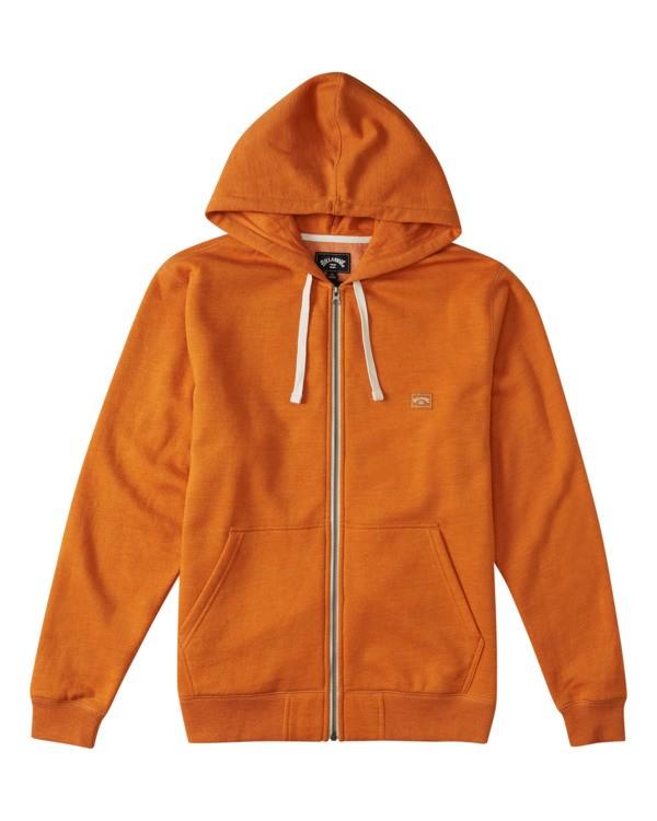 0 All Day - Sudadera con capucha y cremallera para Hombre Naranja W1FL21BIP1 Billabong