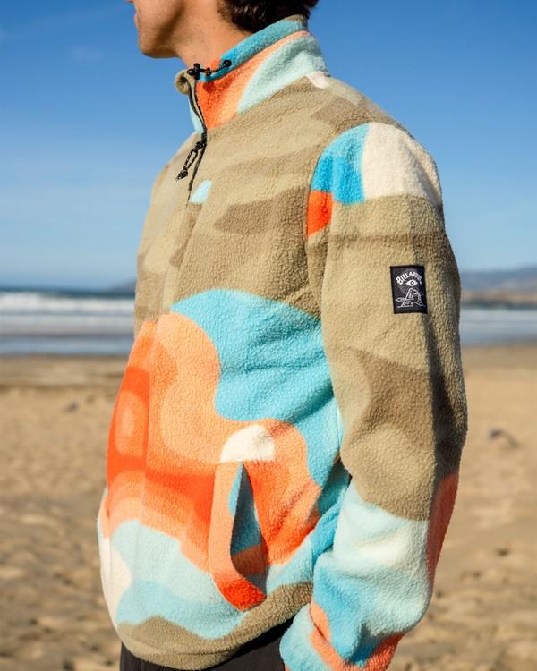 0 Adventure Division Desert Trip Furnace - Half-Zip Polar Fleece for Men Grey W1FL32BIP1 Billabong