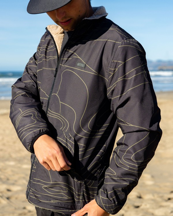 0 Adventure Division Switchback Dunes - Reversible Ripstop and Sherpa Jacket for Men Black W1JK09BIP1 Billabong