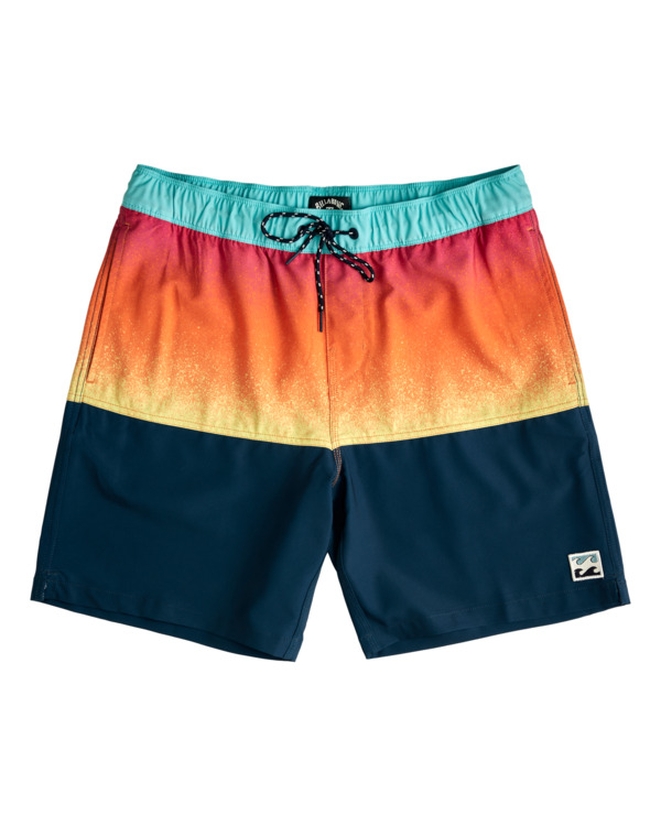 """0 Fifty50 Layback 17"""" - Recycled Board Shorts for Men Red W1LB03BIP1 Billabong"""
