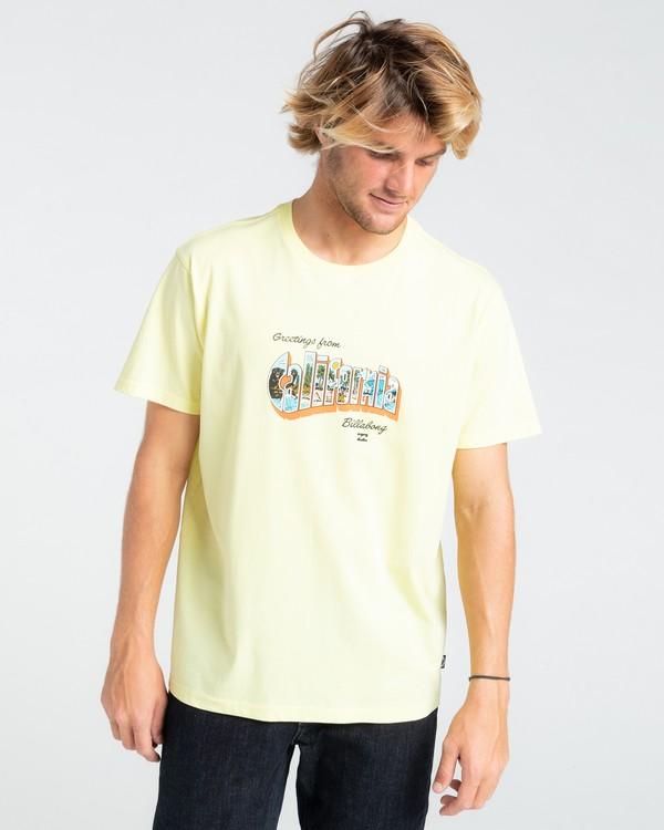 0 Greetings - T-shirt pour Homme Jaune W1SS56BIP1 Billabong