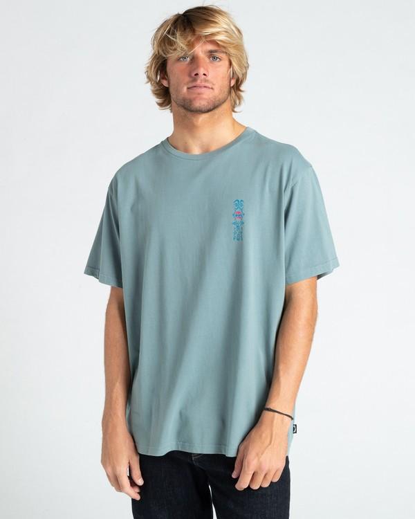 0 Over The Lip - T-shirt pour Homme Gris W1SS59BIP1 Billabong