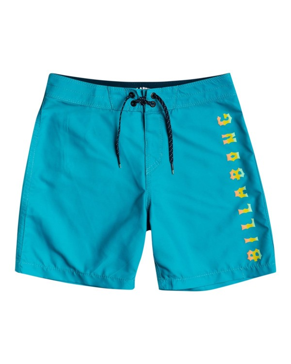 """0 All Day Heritage 16"""" - Board Shorts for Boys Green W2BS15BIP1 Billabong"""