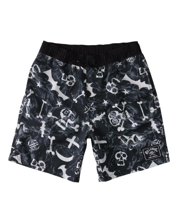 "0 Bad Billy Layback 16"" - Swim Shorts for Boys Blue W2LB10BIP1 Billabong"
