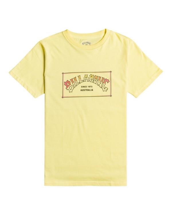 0 Arch Boy - T-Shirt for Boys Yellow W2SS25BIP1 Billabong