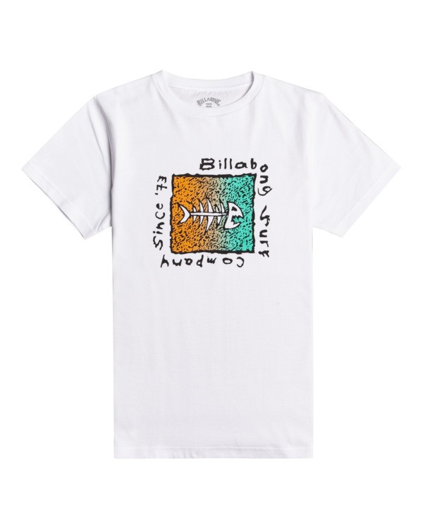0 Mondo - Maglietta da Ragazzo White W2SS41BIP1 Billabong