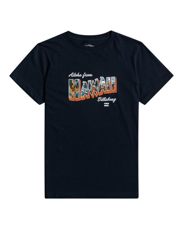 0 Greetings - T-shirt pour Garçon Bleu W2SS50BIP1 Billabong