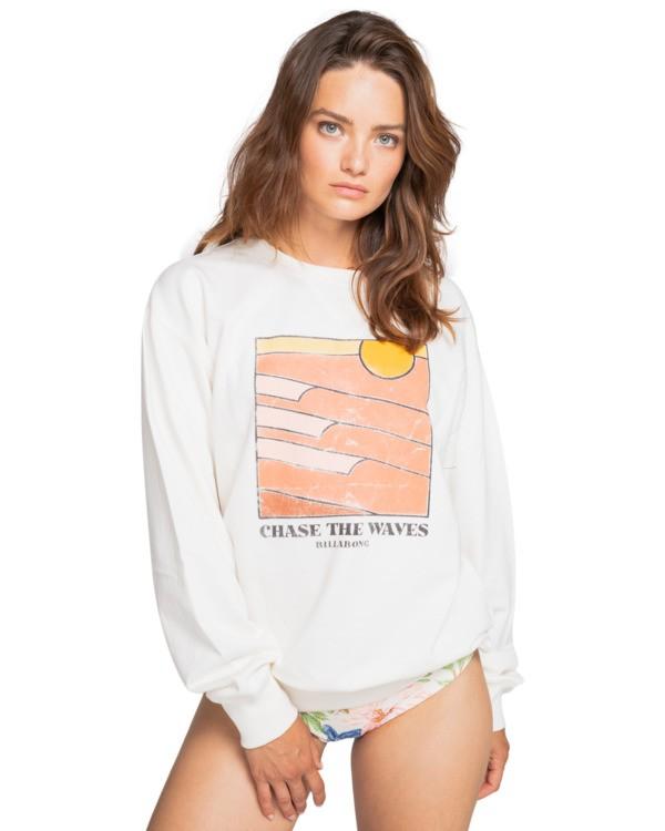0 Wave Chase - Sweatshirt for Women Blanco W3CR04BIP1 Billabong