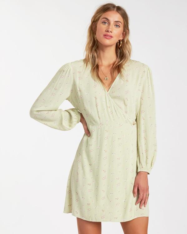 0 Lotta Love - Mini-Wickelkleid für Frauen Grün W3DR36BIP1 Billabong