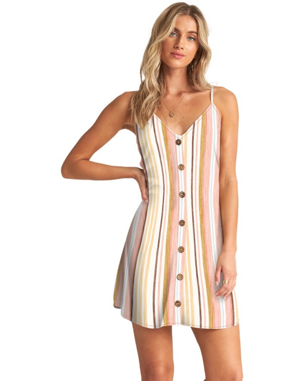 0 Sweet For Ya - Mini vestido con botones para Mujer Multicolor W3DR46BIP1 Billabong