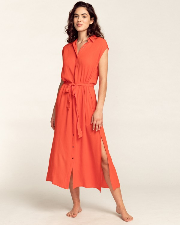0 Little Flirt - Buttoned Dress for Women Multicolor W3DR60BIP1 Billabong