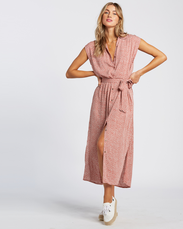 0 Little Flirt - Robe midi pour Femme Rouge W3DR63BIP1 Billabong
