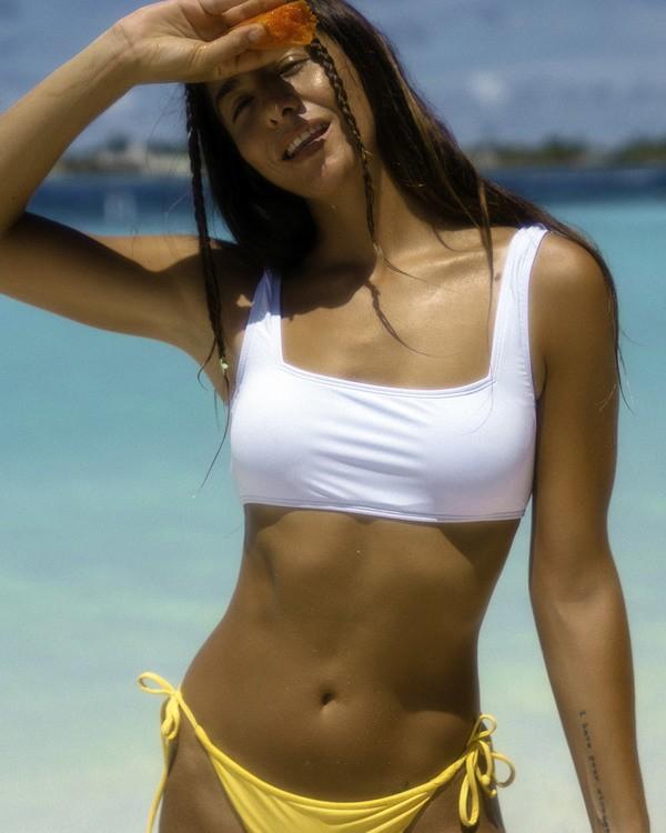 0 Sol Searcher Scoop Front Tank - Top de bikini para Mujer Azul W3ST03BIP1 Billabong