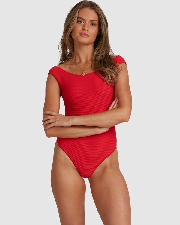 0 Tanlines - Bañador entero para Mujer Rojo W3SW53BIP1 Billabong