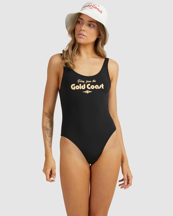 0 G'Day Gold Coast - Bañador Entero para Mujer Negro W3SW54BIP1 Billabong
