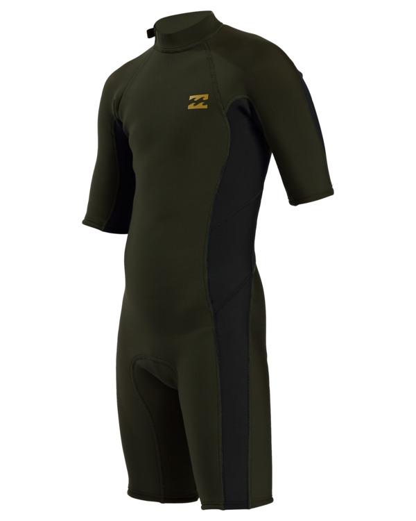 0 2/2mm Absolute - Traje de surf de primavera con manga corta y cremallera en la espalda para Chicos  W42B51BIP1 Billabong