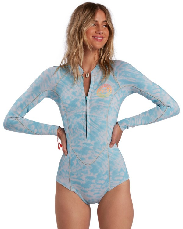 0 Surf Capsule Salty Dayz - Long Sleeve Springsuit for Women Blue W42G53BIP1 Billabong