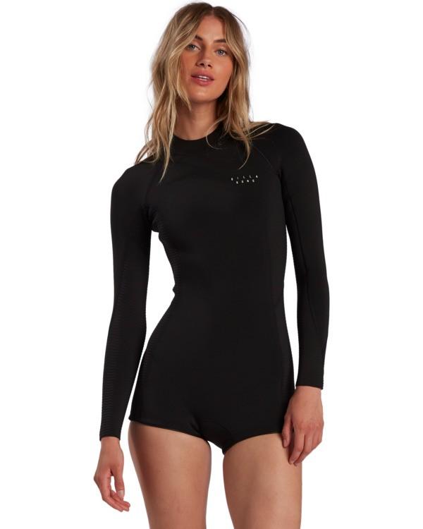 0 Surf Capsule Spring Fever - Long Sleeve Springsuit for Women Black W42G54BIP1 Billabong