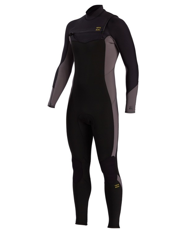 0 Absolute - 3/2mm Chest Zip GBS Wetsuit for Men Grey W43M54BIP1 Billabong