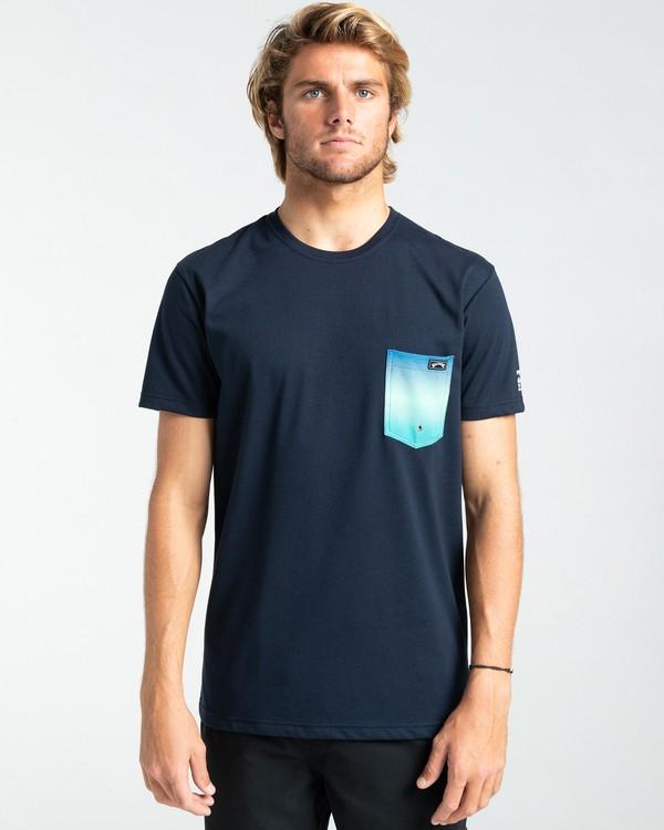 0 Team Pocket - Rash Vest UPF 50 a maniche corte da Uomo Blue W4EQ06BIP1 Billabong