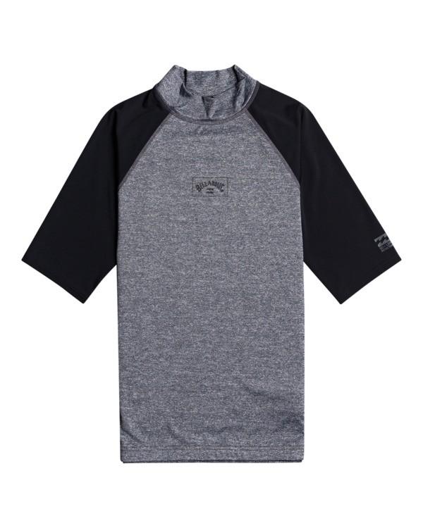 0 Contrast - Rash Vest UPF 50 a maniche corte da Uomo Gray W4MY09BIP1 Billabong