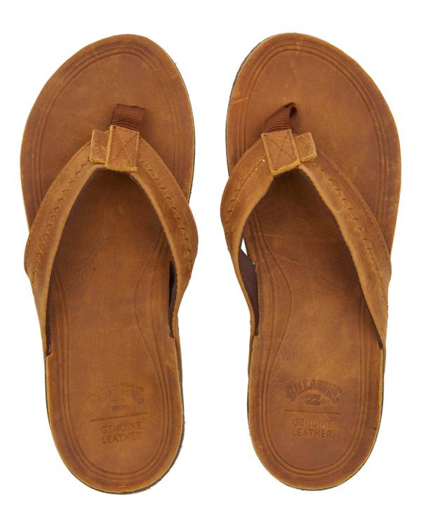 0 Brunswick Leather - Sandals for Men Brown W5FF21BIP1 Billabong