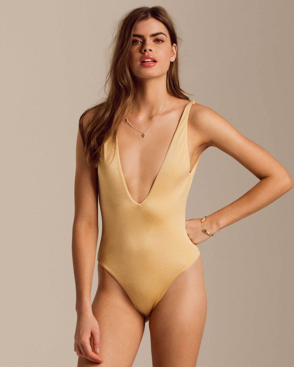 0 Gold Struck One Piece Swim Yellow X123PBGO Billabong